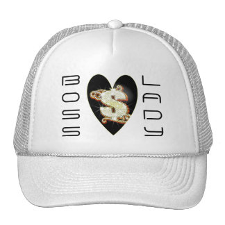 Boss Lady Bling Money Symbol Heart Trucker Hat