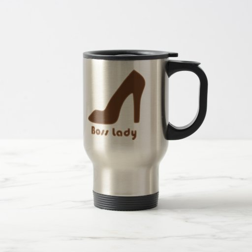 Boss Lady Brown Pump Coffee Mugs