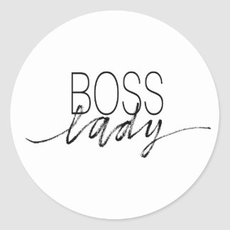Boss Lady Classic Round Sticker