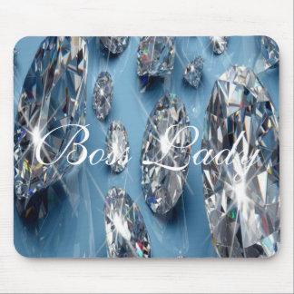Boss Lady Diamonds Mousepad