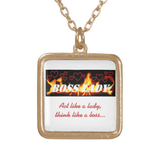 Boss Lady Flames Heart Necklace