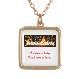 Boss Lady Flames Stars Necklace