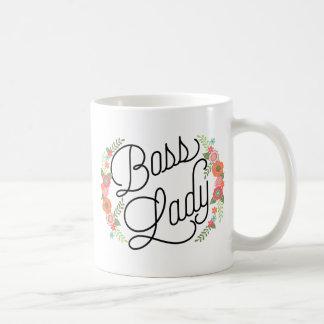 Boss Lady Floral Basic White Mug