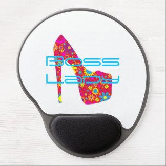 Boss Lady Flowers High Heel Shoe Gel Mousepad