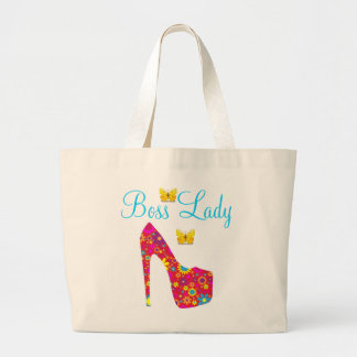 Boss Lady Flowers High Heel Shoe Jumbo Tote