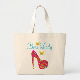 Boss Lady Flowers High Heel Shoe Jumbo Tote Jumbo Tote Bag
