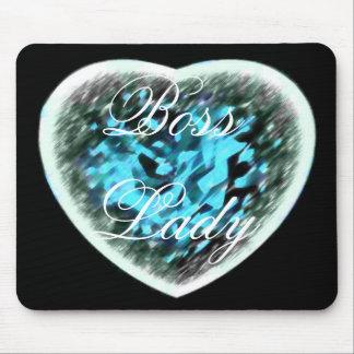 Boss Lady Heart Mousepad Mouse Pad