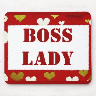 Boss Lady Hearts Mousepad