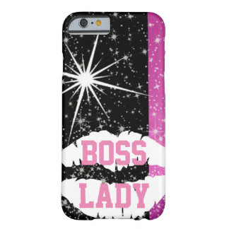 Boss Lady Lips Sparkle Barely There iPhone 6 Case