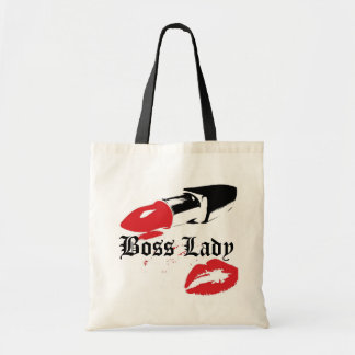Boss Lady Lipstick and Lips Budget Tote Bag
