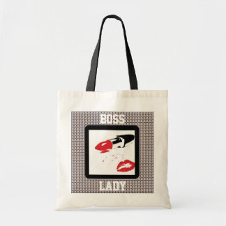 Boss Lady Lipstick and Lips Diamonds Budget Tote Budget Tote Bag