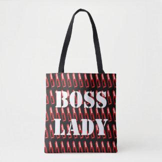 Boss Lady Lipstick Tote Bag