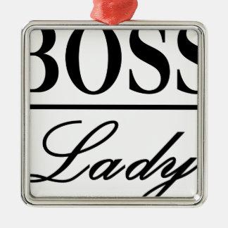 BOSS LADY METAL ORNAMENT