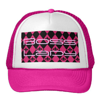 Boss Lady Pink and Black Trucker Hat
