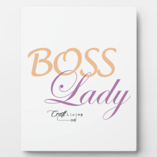 Boss Lady Plaque