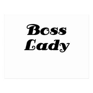 Boss Lady Postcard