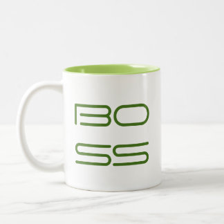 Boss Lady / Right Handed (Boss facing out) Two-Tone Coffee Mug
