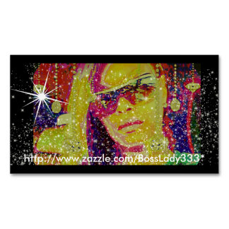 Boss Lady Sparkle Magnetic Business Cards