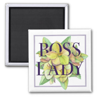 Boss Lady Square Magnet