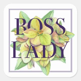 Boss Lady Square Sticker