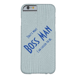 Boss Man Blue slim lightweight iPhone 6 case Barely There iPhone 6 Case