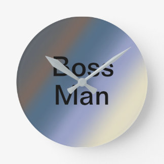 BOSS man silver/steel blue blends clock