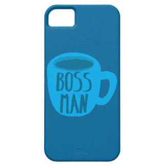 Boss man with blue Coffee CUP iPhone 5 Cover