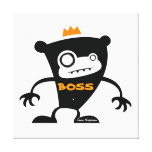 Boss Monkey Stretched Canvas Prints