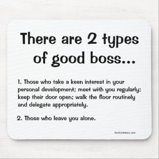 Boss Mousepad - Funny Boss Wisdom - Types of Boss