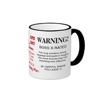 BOSS MUG - X RATED - WITTY FUNNY GIFT IDEA