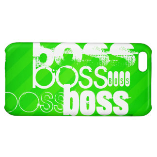 Boss; Neon Green Stripes Cover For iPhone 5C