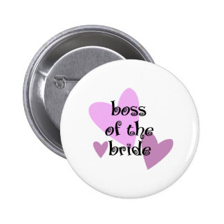 Boss of the Bride Buttons