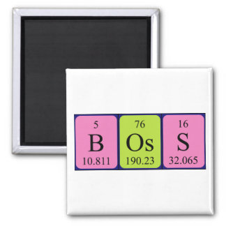 Boss periodic table name magnet