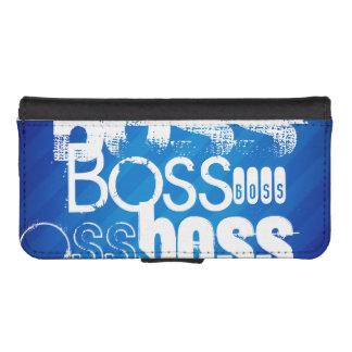 Boss; Royal Blue Stripes Phone Wallet Case