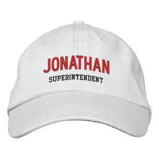 BOSS Synonym SUPERINTENDENT Custom Name V14K Embroidered Hat