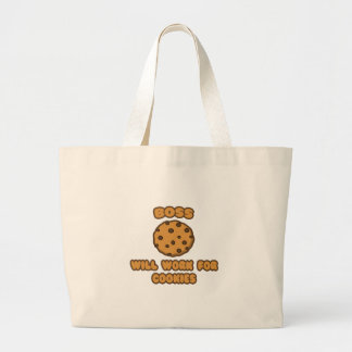 Boss .. Will Work for Cookies Canvas Bags