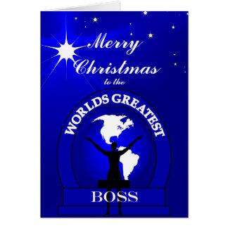 Boss Worlds Greatest Christmas Greeting Card