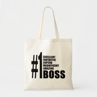Bosses Birthdays Gifts : Number One Boss Budget Tote Bag