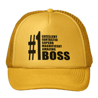 Bosses Birthdays Gifts : Number One Boss Trucker Hat