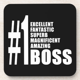Bosses Birthdays Gifts : Number One Boss Coaster
