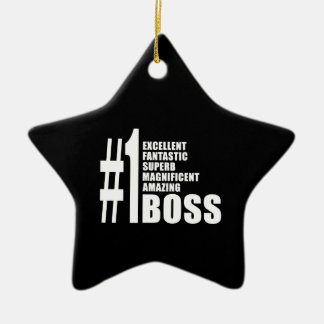 Bosses Birthdays Gifts : Number One Boss Christmas Tree Ornament