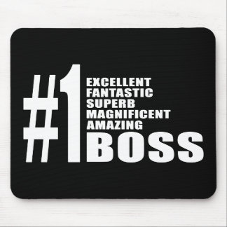 Bosses Birthdays Gifts Number One Boss Mouse Pads