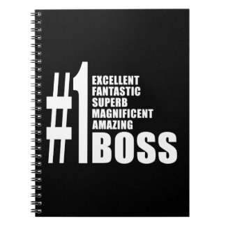Bosses Birthdays Gifts : Number One Boss Note Book