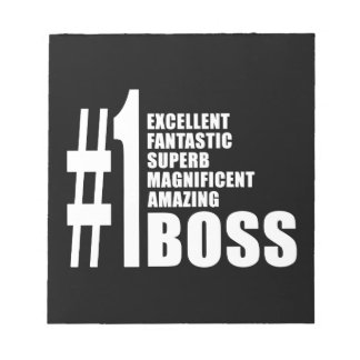 Bosses Birthdays Gifts Number One Boss Memo Note Pads
