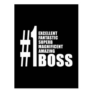 Bosses Birthdays Gifts : Number One Boss Postcard