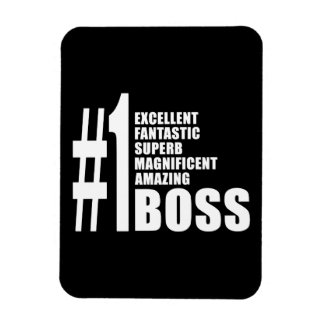 Bosses Birthdays Gifts : Number One Boss Flexible Magnet