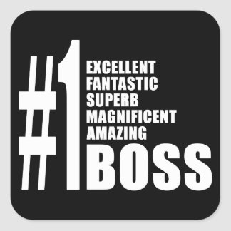 Bosses Birthdays Gifts : Number One Boss Square Sticker