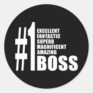 Bosses Birthdays Gifts : Number One Boss Sticker