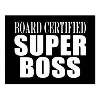 Bosses Office Parties : Board Certified Super Boss Post Card