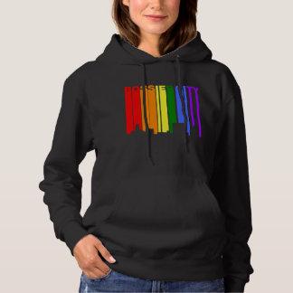Bossier City Louisiana Gay Pride Rainbow Skyline Hoodie